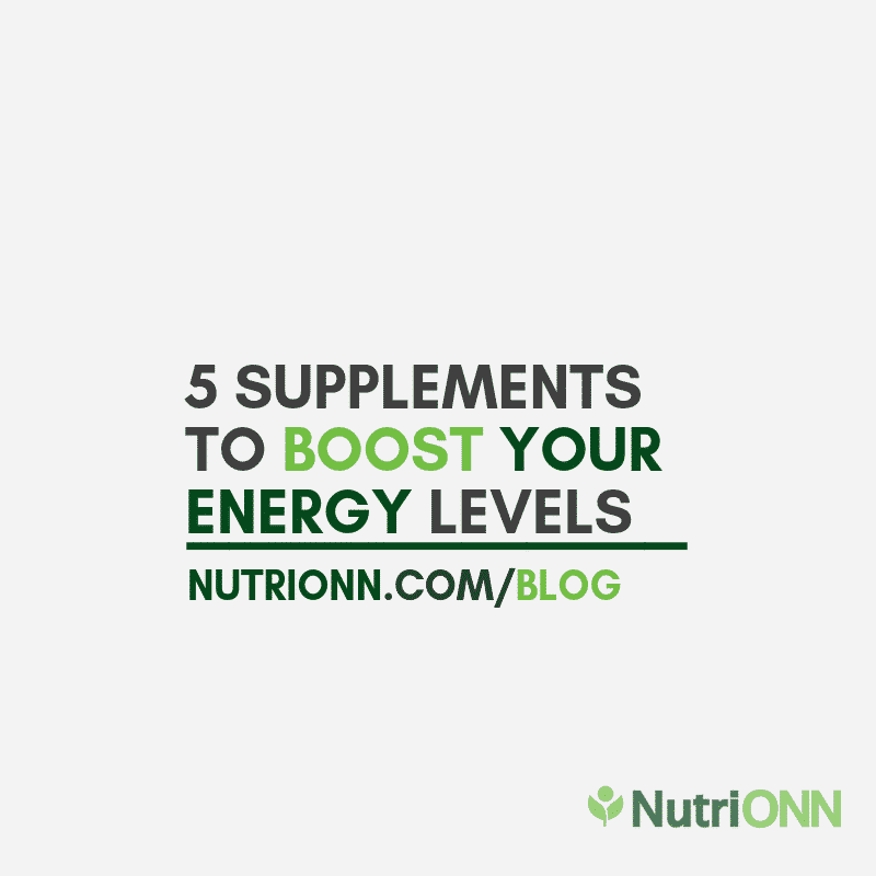 5 Supplements To Boost Your Energy Levels